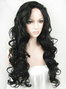 Ebingoo Halloween Black Lace Front Wig Synthetic Long Curly Wave Heat Resistant Hair Women's Party Wigs N5 +1 JLS349