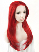 Ebingoo Synthetic Lace Front Wig Fashion Red Natural Wavy Wave Heat Resistant Full Hair Women's Party Wigs N2 3100 JLS343