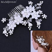 Cystal Beads 100% Handmade Pearl Jewellery Bridal Combs Tiara Wedding Hair Accessories