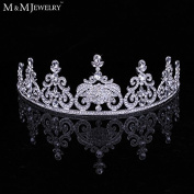 Gorgeous Austrain Crystal White Gold Plated Bridal Wedding Hair Accessories Women Jewellery Tiara and Crown