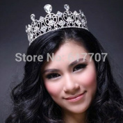 Hot Selling 100% Glass Crystal Large Tiara Bridal Hair Accessoies Wedding Jewellery Wedding Accessories