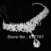 Hot Selling Floral Rhinestone Crystal Bridal Frontlet Hair Accessories Wedding Jewellery Wedding Accessories