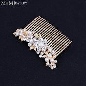 Imitated Pearl Crystal Bridal Jewellery Fashion Flower Combs Tiara Wedding Hair Accessories