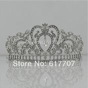 Luxurious Heart Rhinestone Crystal Big Tiara Crown Wedding Hair Accessories Hair Jewellery Wedding Accessoies