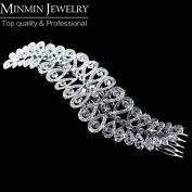 New Arrival Luxurious Long Leaf Crystal Bridal Hair Combs Bridal Hair Accessories Tiara Hairpins Wedding Accessories