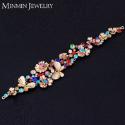 New Bridal Hair Jewellery Rose Gold Plated Top Colourful Crystal Wedding Hairpins Hairwear Wedding Hair Accessories Headband