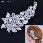 New Design Austrian Cystal Hair Combs Leaves Headwear Bridal Tiara Wedding Accessories