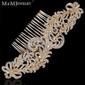 New Elegant Top Crystal 14k Gold Plated Wedding Accessories Leaves Combs Tiara Bridal Hair Jewellery