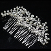 Original Design Floral Bridal Hair Combs Simulated Pearl Hair Accessories Wedding Accessories Hairpin