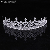 Pure Crystal Whit K Gold Plated Bridal Hair Accessories Classic Prom Tiara Headband Wedding Hair Jewellery