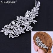 Top Austrian Cystal Combs Bridal Flower Headwear Tiara Wedding Jewellery Hair Accessories