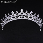 European Bride Style Rhinestone Crown Tiara Bridal Hair Jewellery Wedding Hair Accessories