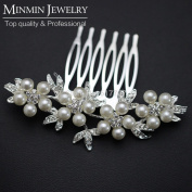 . Cheap Leaf Simulated Pearl Bridal Hair Combs Tiara Hairpin Hair Jewellery Wedding Accessories