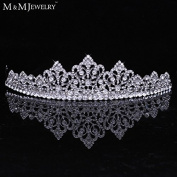 Full of Pure Top Crystal Whit K Gold Plated Bridal Jewellery Crown Tiara Prom Bride s Headband Wedding Hair Accessories