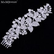 New Floral Crystal Bridal Hair Combs Bridal Hairpins Hairstyle Braider Tiara Hair Jewellery Wedding Accessories