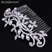 New Leaf Crystal Imitation Gemstone Bridal Hair Combs Hairpin Tiara Wedding Hair Accessories Hair Jewellery