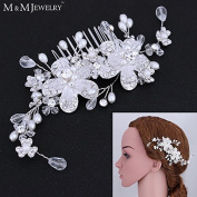 Top Quality 100% Handmade Simulated Pearl Bridal Hair Combs Hair Jewellery Wedding Hair Accessories