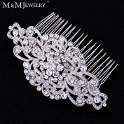 Gorgoues Top Crystal Bridal Hair Jewellery Flower Combs Wedding Accesories Headwear