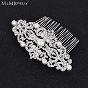 Hot Imitated Pearl Crystal Bridal Jewellery Tiara Geometric Hair Combs Wedding Accessories