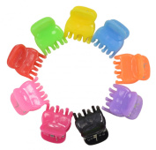 50 Pcs Mini Size Bangs Goody Hair Claw Clip Hair Pins for Baby Girls Ladies Mix Coloured HC138