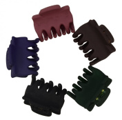 50 Pcs Mini Size Bangs Goody Hair Claw Clip Hair Pins for Baby Girls Ladies Mix Coloured HC137