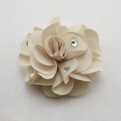 Bari Lynn Feel Good Flower Clip, Ivory