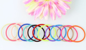 Yontree 100pcs Baby Girl Kids Tiny Rubber Hair Bands Elastic Ties 20 Candy Colours