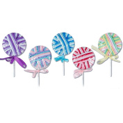 Assorted Colours Pastel Lollipop Elastics- Set of 6 Lollipops