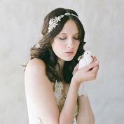Bridal Headpiece Art Deco Leaf Pearl Wedding Headband for Women Fashion Rhinestones Headbands