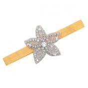 Eforstore Children Kids Newest Pentagram Flower Headband Hair Band With Rhinestone