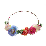 ACVIP Boho Style Flower Wedding Costume Play Headband Garland