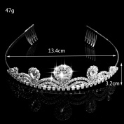 FUMUD Gorgeous Pretty Rhinestone Tiara Crown Exquisite Headband Comb Pin Wedding Bridal Birthday Tiaras