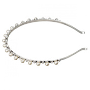 FUMUD Women's Fashion Crystal Rhinestone Wedding Tiara Hair Band Headband