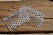 Clear Crystal Quartz Hair Combs