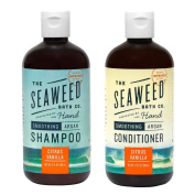 Seaweed Bath Company Smoothing Citrus All Natural Shampoo and Conditioner Bundle With Organic Bladderwrack Seaweed, Aloe Vera, Argan Oil and Vitamin E, 350ml each