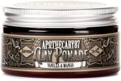 Apothecary 87, Vanilla and Mango, Medium to Strong Hold Styling Clay Pomade