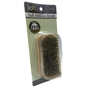 Joy Military Style Natural Wood Handle 100% Boar Soft Bristle Hair Brush