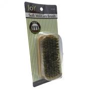 Joy Military Style Natural Wood Handle 100% Boar Soft Bristle Hair Brush