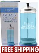 Sanitizer Disinfectant Glass Jar for Styling Salon Barber Shop or Styling Station Germicide Jar