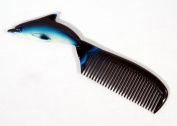 Hand Painted Blue Dolphin Comb