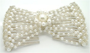 Casualfashion New Easy Stretch Pearls Combs Hand-beaded Hair Comb Jewellery Double Clips for Women