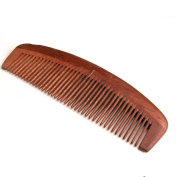 Handcrafted Neem Wood Comb - Anti Dandruff, Great for Scalp and Hair health with Handle