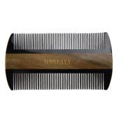 AUDYLIYA Green Sandalwood Hair Comb | No Static Detangling Natural Aroma Handmade Buffalo Horn Comb (Beard)| Free Premium Giftbox