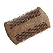 AUDYLIYA Beard Comb | Fine & Coarse Tooth | Handmade Sandalwood Beard and Moustache Brush | Gift Box