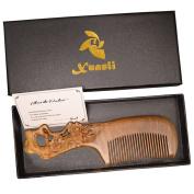 Xuanli® Natural SandalWood Comb Hair Care Anti Static Wooden Hair Massage Natural Brush Beard Comb M002