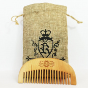 Wooden Beard Comb - Peach wood wide tooth pocket size beard combs by Royal Beard Club.