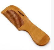 1 Pc Natural wide Peach Wooden Colour Toothed Comb Healthy Head Hair Care no-static massage Hairdresser NEW