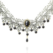 Bridalvenus Lace Chocker Necklace jewellery for Women and Girls on Wedding, Party and Evening