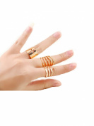 Bridalvenus Vintage 3Pcs/Set Adjustable Metal Midi Knuckle Finger Rings for Women and Girls