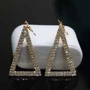 Bridalvenus Luxuriant Triangular Shaped Earrings with Rhinestones for Women and Girls